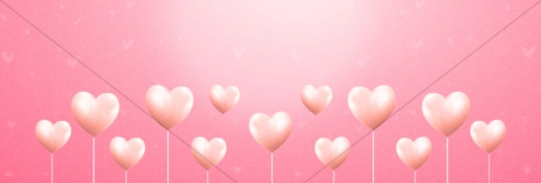 Valentine's Day Church Website Banner