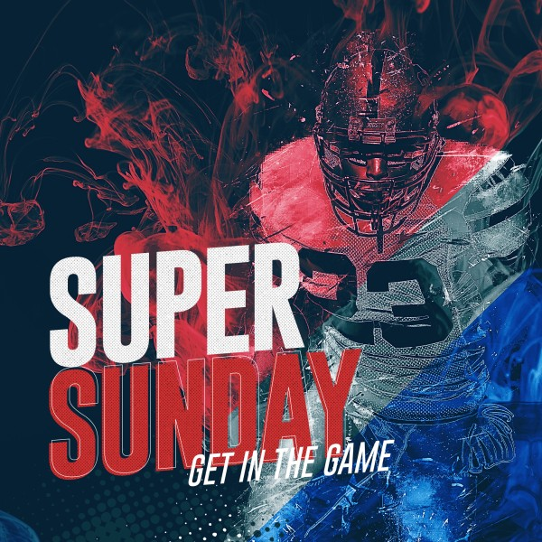 Super Sunday Church Social Media Graphic