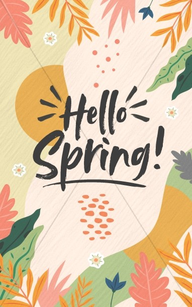 Hello Spring Church Bifold Bulletin