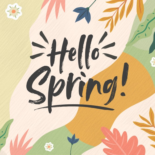 Hello Spring Church Social Media Graphic