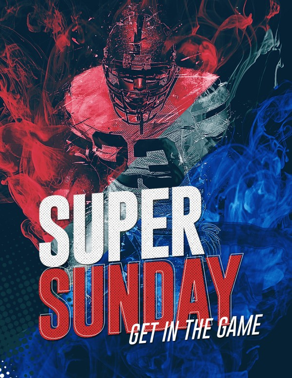 Super Sunday Church Media Flyer