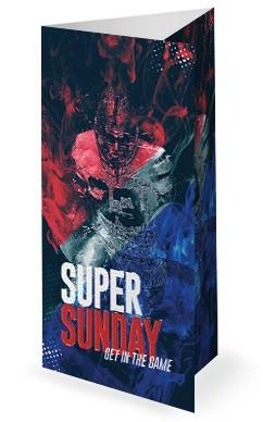 Super Sunday Church Media Trifold Bulletin