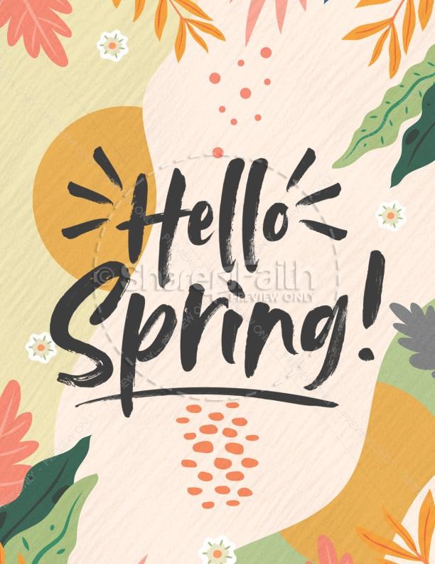 Hello Spring Church Flyer
