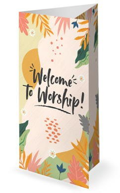 Hello Spring Church Trifold Bulletin