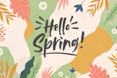 Hello Spring Title Church Motion Graphic