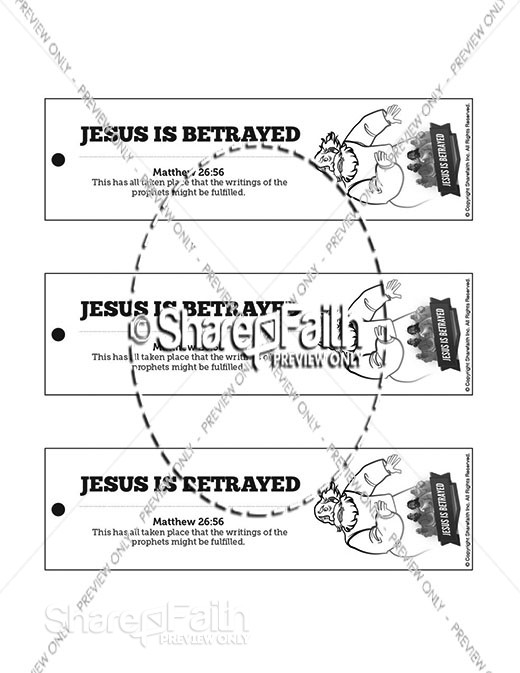 Matthew 26 Jesus is Betrayed Bible Bookmarks