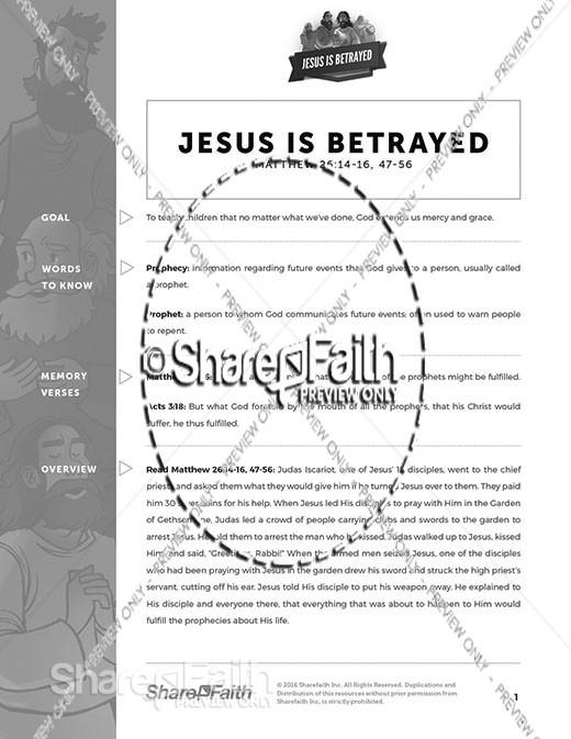 Matthew 26 Jesus is Betrayed Curriculum