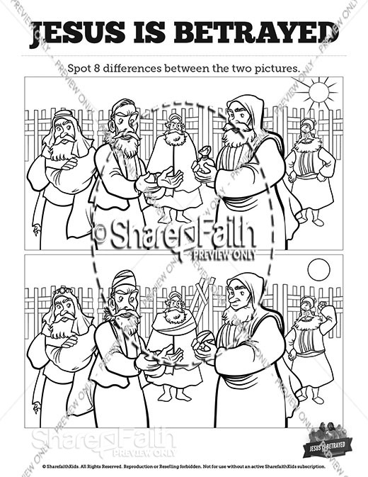 Matthew 26 Jesus is Betrayed Spot the Differences