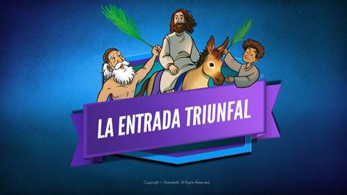 Lucas 19 La entrada triunfal de la Biblia Video para niños