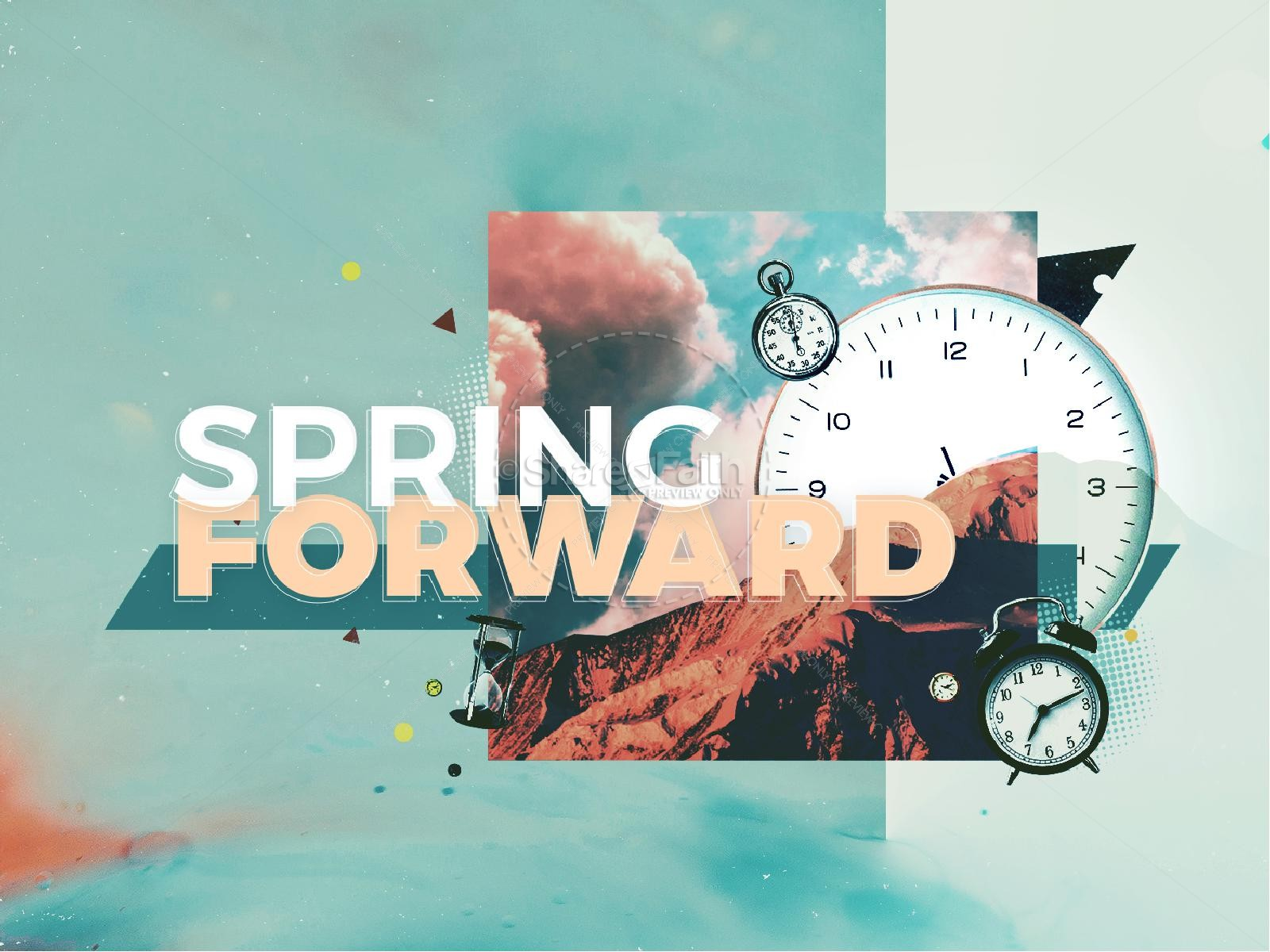 Spring Forward Daylight Savings Church PowerPoint