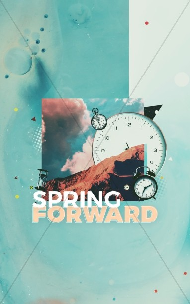 Spring Forward Daylight Savings Church Bifold Bulletin