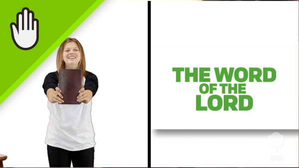 The Word of the Lord Kids Worship Video for Kids Hand Motions Split Screen