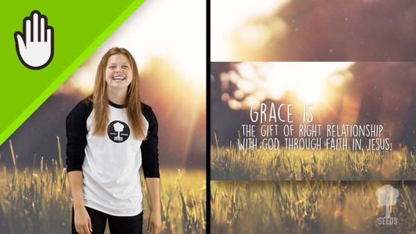 Grace Kids Worship Video for Kids Hand Motions Split Screen