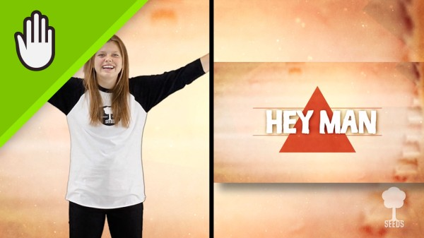 Hey Man Kids Worship Video for Kids Hand Motions Split Screen