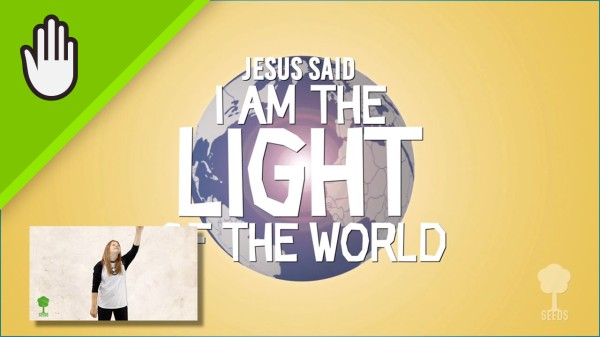 The Light Of The World Kids Worship Video for Kids Hand Motions