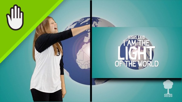 The Light Of The World Kids Worship Video for Kids Hand Motions Split Screen