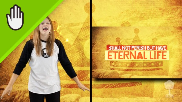 Eternal Life Kids Worship Video for Kids Hand Motions Split Screen