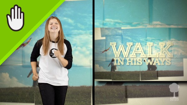 Walk In His Ways Kids Worship Video for Kids Hand Motions Split Screen
