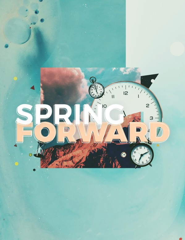 Spring Forward Daylight Savings Church Flyer
