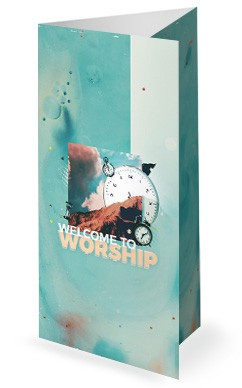 Spring Forward Daylight Savings Church Trifold Bulletin