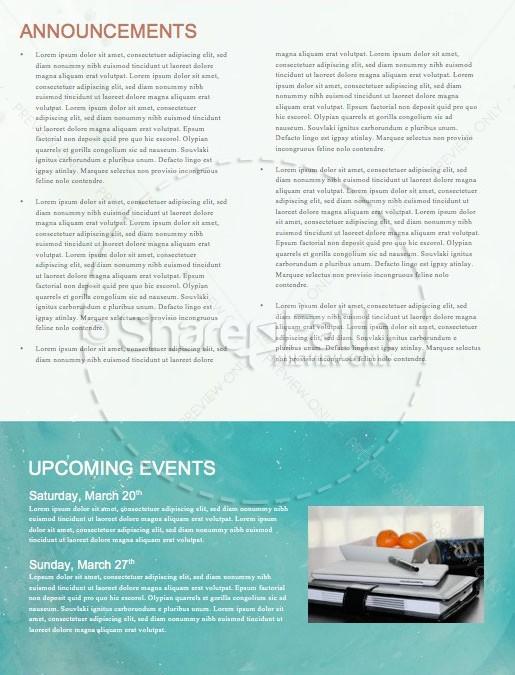 Spring Forward Daylight Savings Church Newsletter