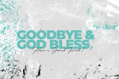 Baptism Sunday Goodbye Church Motion Graphic
