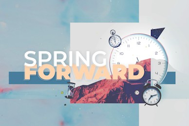 Spring Forward Daylight Savings Title Church Motion Graphic