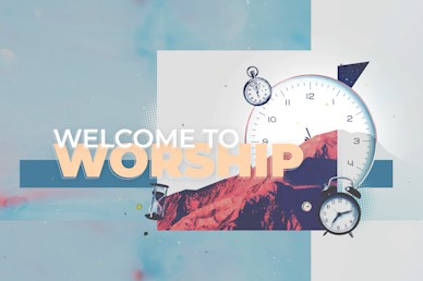 Spring Forward Daylight Savings Welcome Church Motion Graphic