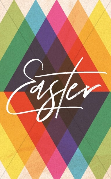 Easter Sunday Colorful Church Bifold Bulletin