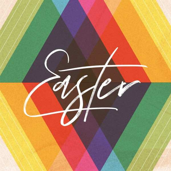 Easter Sunday Colorful Church Social Media Graphic