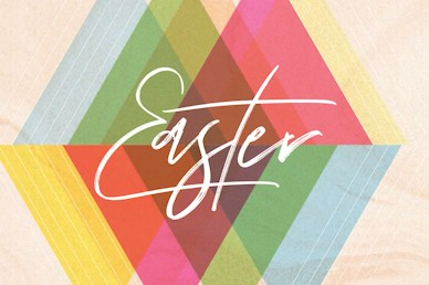 Easter Sunday Colorful Title Church Motion Graphic