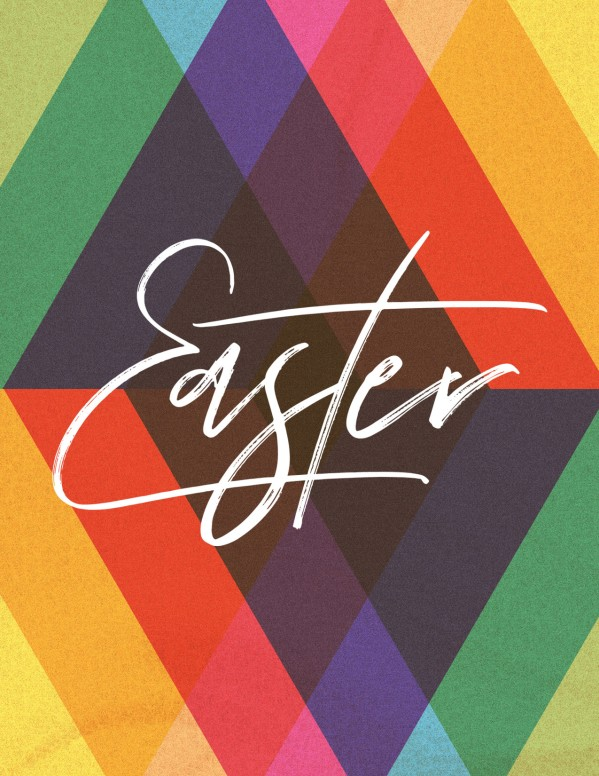Easter Sunday Colorful Church Flyer