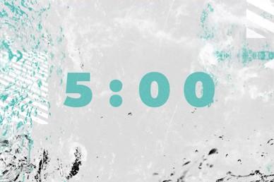 Baptism Sunday Teal Church Countdown Timer