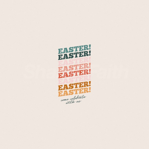 Celebrate Easter Pastel Social Media Graphic