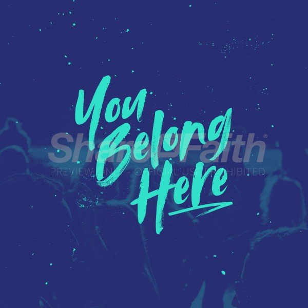 You Belong Here Blue Social Media Graphic