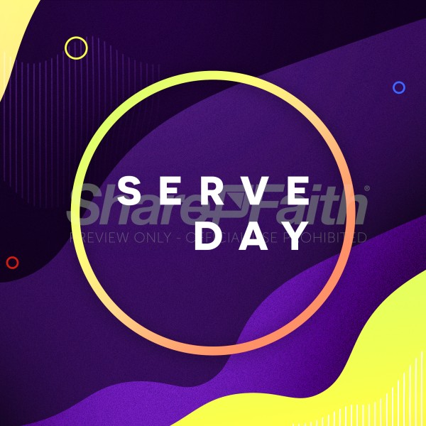 Serve Day Church Social Media Graphic
