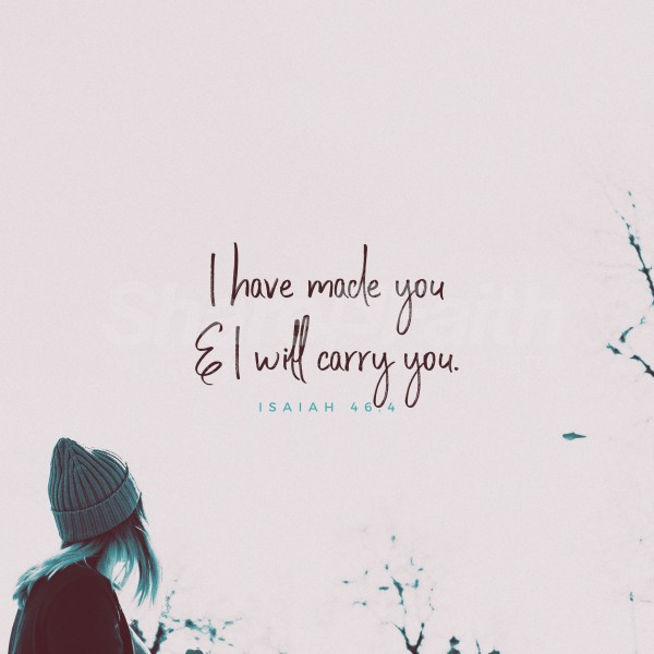 I Will Carry You Social Media Graphic
