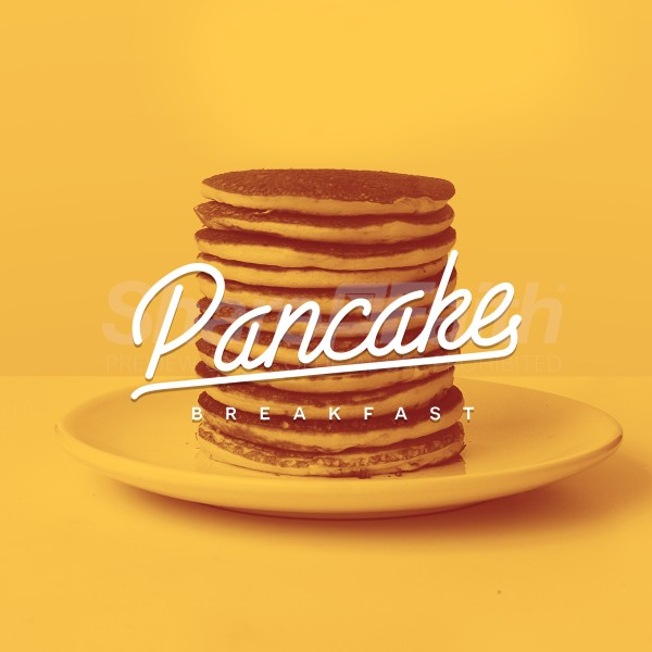 Pancake Breakfast Yellow Social Media Graphic