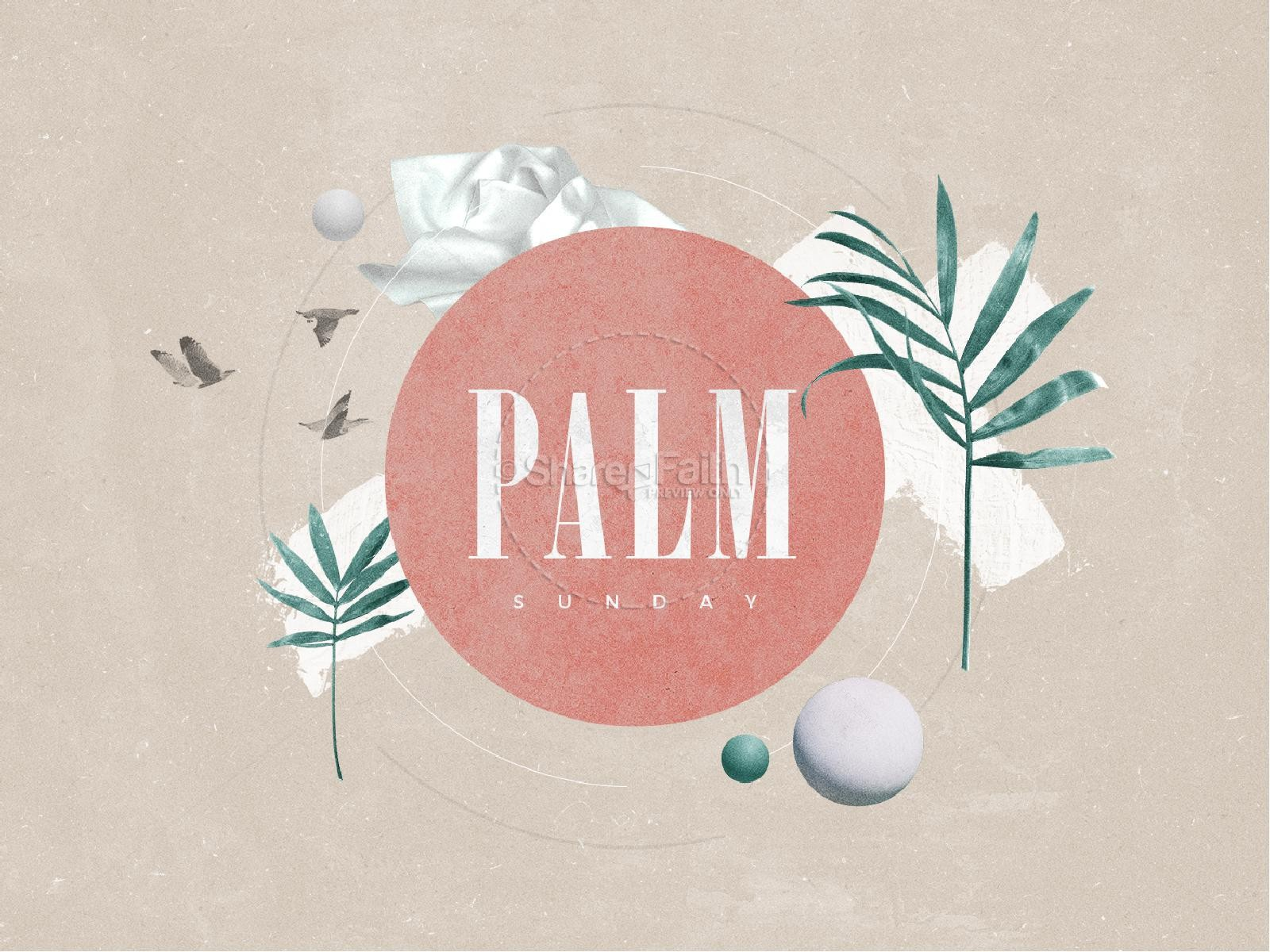 Palm Sunday Pink Church Powerpoint