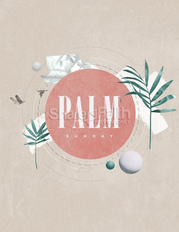 Palm Sunday Pink Church Flyer | page 1