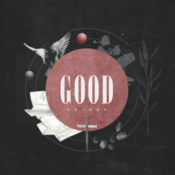 Good Friday Cross Church Social Media Graphic