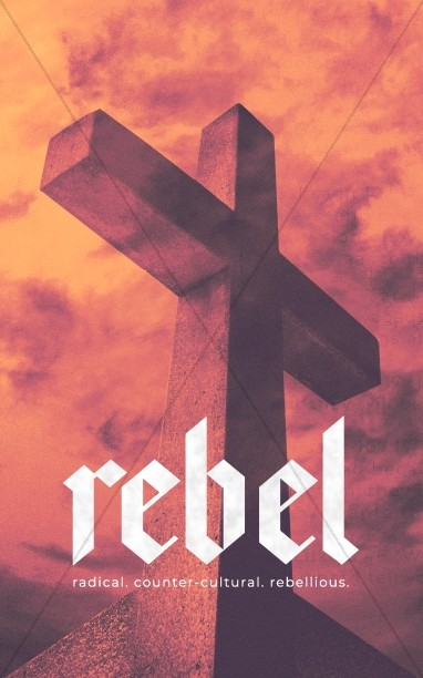 Rebel Cross Church Bifold Bulletin