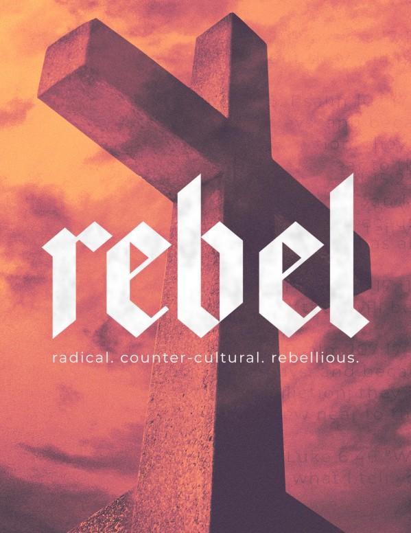Rebel Cross Church Flyer