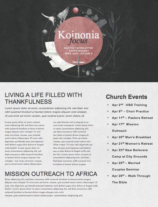 Good Friday Cross Church Newsletter