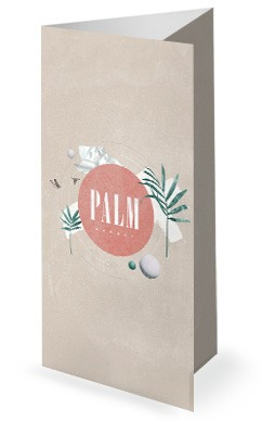Palm Sunday Pink Church Trifold Bulletin
