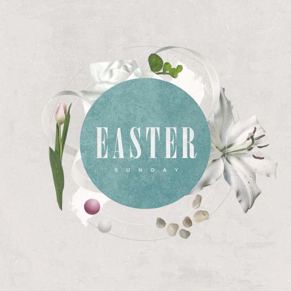 Easter Sunday Lily Social Media Graphic