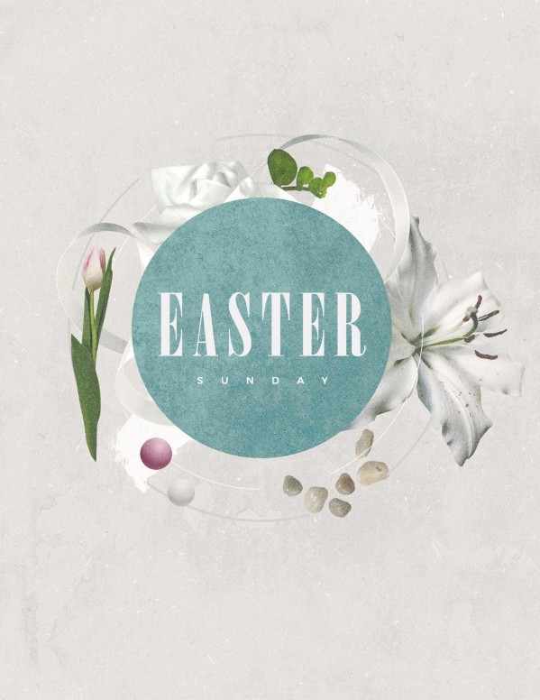 Easter Sunday Lily Church Flyer