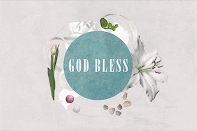 Easter Sunday Lily God Bless Motion Graphic