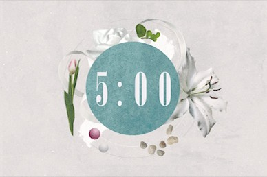Easter Sunday Lily Countdown Motion Graphic