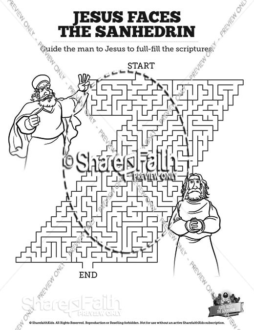 Matthew 26 Jesus Before the Sanhedrin Bible Mazes